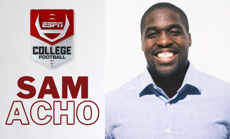 Former NFL Linebacker and Texas Longhorn Sam Acho Joins ESPN as College Football and NFL Studio Analyst